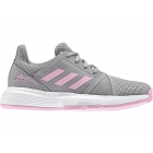 Adidas Junior CourtJam Tennis Shoes (Light Granite/True Pink) - Junior Tennis Shoes