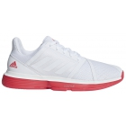 Adidas Men's CourtJam Bounce Tennis Shoes (White/Shock Red) - Clearance Sale! Discount Prices on Men's Tennis Shoes