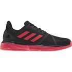 Adidas Men's CourtJam Bounce Tennis Shoes (Black/Shock Red) - Adidas Tennis Shoes