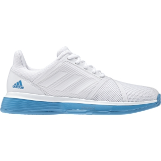 71c05fdafb225 Adidas Men s CourtJam Bounce Tennis Shoes (White Shock Cyan) - Do It ...