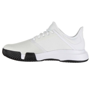 official photos d5b65 57098 Adidas Mens GameCourt Tennis Shoes (WhiteMatte Silver)