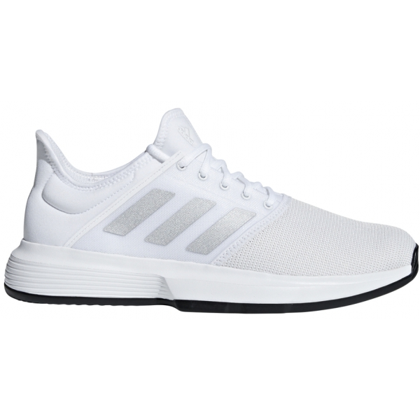d331ef1f4cf0c Adidas Men's GameCourt Tennis Shoes (White/Matte Silver) - Do It Tennis