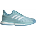 Adidas Men's SoleCourt Boost M x Parley Tennis Shoes (Blue Spirit/White/Vapor Blue) - Adidas x Parley Ocean Plastic Tennis Apparel & Shoes