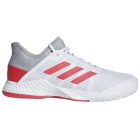 Adidas Men's Adizero Club Tennis Shoes (Light Granite/Shock Red/White) - Adidas adiZero Tennis Shoes