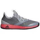 Adidas Men's Adizero Defiant Bounce Tennis Shoes (Light Granite/Shock Red) - Adidas adiZero Tennis Shoes