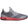 Adidas Men's Adizero Defiant Bounce Tennis Shoes (Light Granite/Shock Red)