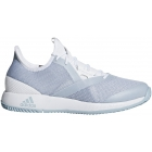 Adidas Women's Adizero Defiant Bounce Tennis Shoes (White/Ash Grey) - Adidas Bounce Tennis Shoes