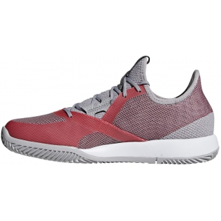 Adidas Women's Adizero Defiant Bounce Tennis Shoes (Light Granite/Shock Red)
