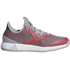 Adidas Women's Adizero Defiant Bounce Tennis Shoes (Light Granite/Shock Red) - Adidas Bounce Tennis Shoes