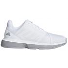Adidas Women's CourtJam Bounce Tennis Shoes (White/Light Granite) - Adidas Tennis Shoes