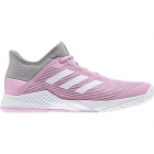 Adidas Women's Adizero Club Tennis Shoes (Light Granite/True Pink) -