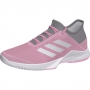 Adidas Women's Adizero Club Tennis Shoes (Light Granite/True Pink)