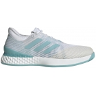 Adidas Men's Adizero Ubersonic 3m x Parley Tennis Shoes (White/Blue Spirit) - Adidas adiZero Tennis Shoes