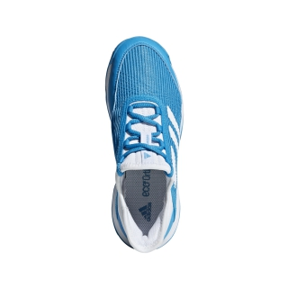 Adidas Junior Adizero Club Tennis Shoes (Shock Cyan/White)