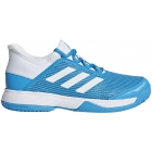 Adidas Junior Adizero Club Tennis Shoes (Shock Cyan/White) - Adidas Junior Tennis