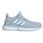 Adidas Junior SoleCourt Tennis Shoes (Ash Grey/White/Granite) - Adidas Shoe Sale. Save on New Shoes for the Family