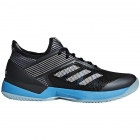 Adidas Women's Adizero Ubersonic 3 Clay Court Tennis Shoes (Black/White/Shock Cyan) - Adidas adiZero Tennis Shoes