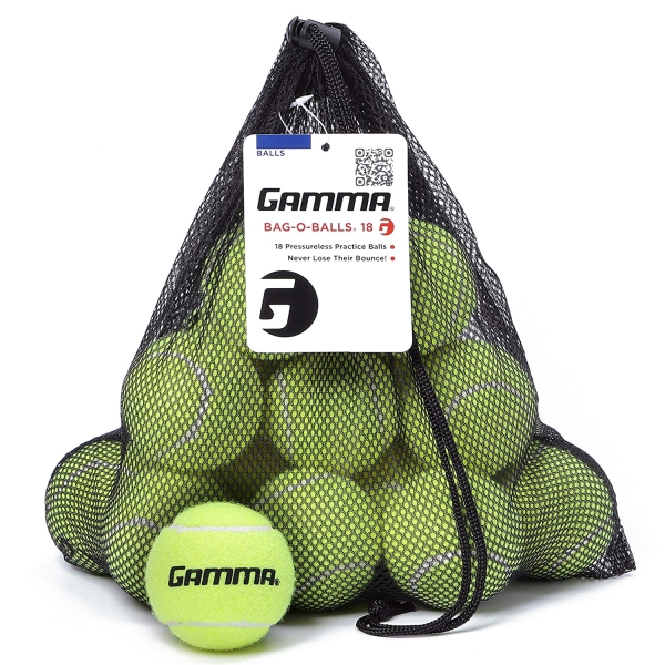 Gamma Bag-O-Balls, 18 Pressureless Tennis Balls (Yellow)