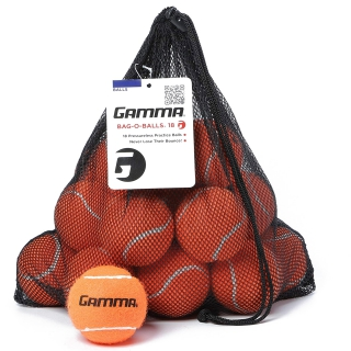 Gamma Bag-O-Balls, 18 Pressureless Tennis Balls (Orange)
