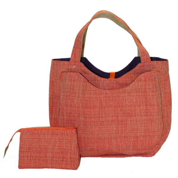 40 Love Courture Orange Weave Charlotte Tote