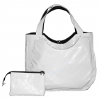 40 Love Courture White Quilt Charlotte Tote - Tennis Bag Brands