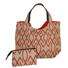 40 Love Courture Zig Zag Charlotte Tote - Designer Tennis Bags - Luxury Fabrics and Ultimate Functionality