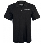 Head Men's Spacedye Gotham Tennis Polo (Black Heather) - HEAD Men's Tennis Apparel
