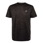 Head Men's Spacedye Hypertek Tennis Crew (Black Heather) - HEAD Men's Tennis Apparel