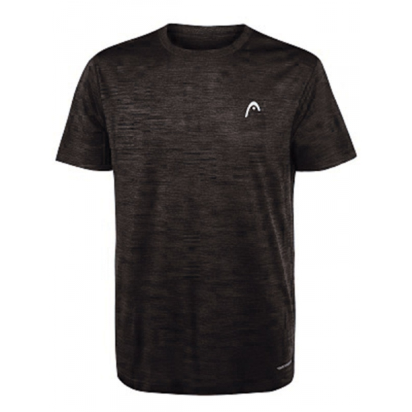 Head Men's Spacedye Hypertek Tennis Crew (Black Heather)