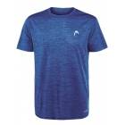 Head Men's Spacedye Hypertek Tennis Crew (Supreme Blue Heather) - HEAD Men's Tennis Apparel