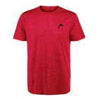 Head Men's Spacedye Hypertek Tennis Crew (Primal Red Heather) - HEAD Men's Tennis Apparel
