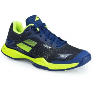 Babolat Men's Jet Mach II Clay Tennis Shoes (Blue/Yellow)