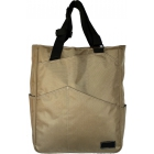 Maggie Mather Tennis Tote with Zipper Closure (Khaki) - Maggie Mather