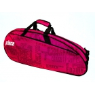 Prince 2016 Club 6 Pack Tennis Bag (Black/ Pink) - 6 Racquet Tennis Bags