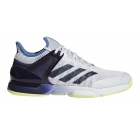 Adidas Men's Adizero Ubersonic 2 Tennis Shoe (Blue Tint/Noble Ink/Semi Frozen Yellow) - Adidas