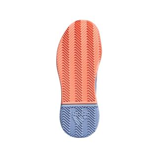 37556d3c25f19 Adidas Women s Adizero Defiant Bounce Tennis Shoes (Chalk Blue White Chalk  Coral)