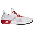 Adidas Women's Adizero Defiant Bounce Tennis Shoes (White/Scarlet/Core Black) - Women's Tennis Shoes