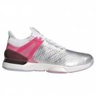 Adidas Men's Adizero Ubersonic Ltd Tennis Shoe (Matte Silver/Real Pink/White) - Types of Tennis Shoes