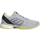 Adidas Women's aSMC Barricade Boost Tennis Shoe (Eggshell Grey/Aero Lime/Core Black) - Adidas