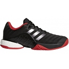Adidas Men's Barricade Boost Tennis Shoes (Core Black/Night Metallic/Scarlet)) - Adidas