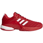Adidas Men's Barricade Boost Tennis Shoes (Scarlet/White) - Adidas Tennis Shoes