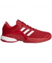 Adidas Men's Barricade Boost Tennis Shoes (Scarlet/White) - Men's Tennis Shoes