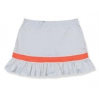 Little Miss Tennis Ruffled Skort (White/ Coral) - Girls's Tennis Apparel