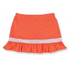 Little Miss Tennis Ruffled Skort (Coral/ White) - Girls's Tennis Apparel
