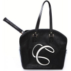 Cortglia Signature Logo Tennis Bag (Black) - Cortiglia Signature Tennis Bags for Women