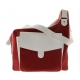 Cortglia Sport Messenger Tennis Bag (Red & White) - Cortiglia Sport Messenger Tennis Bag