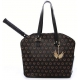Cortglia Tennis Bag by Marion Bartoli (Black Royal) - Designer Tennis Bags - Luxury Fabrics and Ultimate Functionality