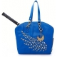 Cortglia Tennis Bag by Marion Bartoli (Blue Crown) - Designer Tennis Bags - Luxury Fabrics and Ultimate Functionality