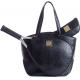 Court Couture Cassanova Croco-embossed  Tote (Black) - Court Couture Cassanova Tennis Bags