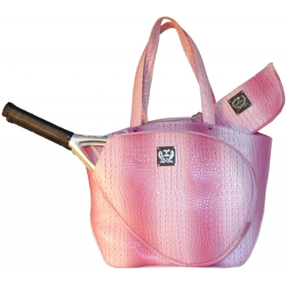 Court Couture Cassanova Croco-embossed Tennis Tote (Pink)